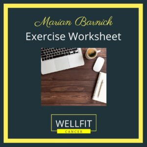 Exercise Journey Worksheet for Cancer Patients
