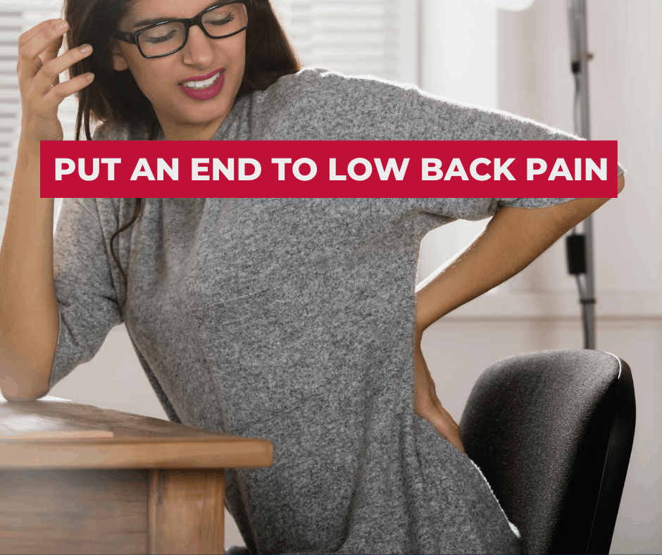 best sitting position for low back pain